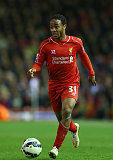Liverpool winger Raheem Sterling runs with the ball