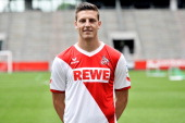 Kevin Wimmer posing for a photo for German side FC Koln