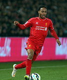 Raheem Sterling in action for English Premier League side Liverpool