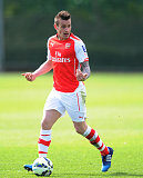 France international Mathieu Debuchy in action for English Premier League side Arsenal
