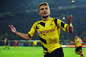 Ciro Immobile celebrates after scoring for German outfit Borussia Dortmund