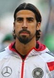 Germany midfielder Sami Khedira watches on whilst representing his home country
