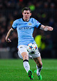 Midfielder James Milner in action for Manchester City