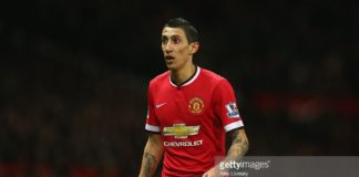Angel Di Maria whilst playing at Manchester United