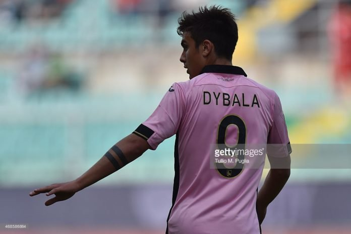 Paulo Dybala in action for his Italian side Juventus