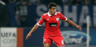 Eduardo Salvio at Benfica where he was scouted by Liverpool