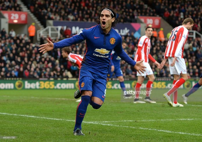 Striker Radamel Falcao at Manchester United during his unsuccessful term