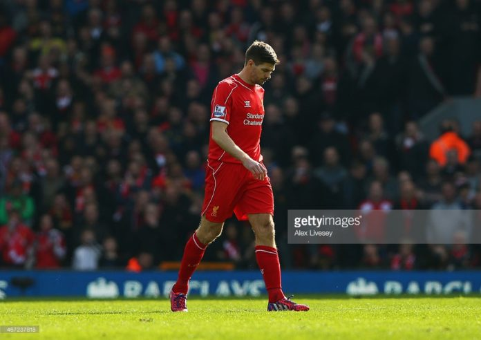 Legendary midfielder Steven Gerrard at Liverpool