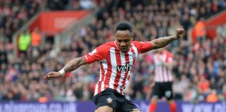 Nathaniel Clyne plays whilst at Southampton before his move to Liverpool