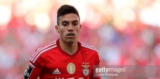 Nicolas Gaitan of Benfica before he moved to Atletico Madrid