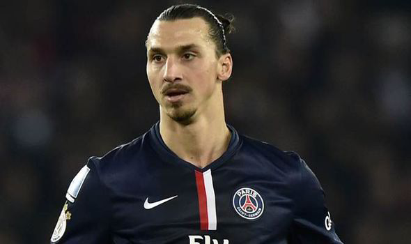 Age-less: Ibrahimovic has pushed Cavani out to a wide role at PSG