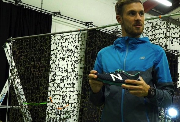 Arsenal legend Aaron Ramsey and his New Balance boots