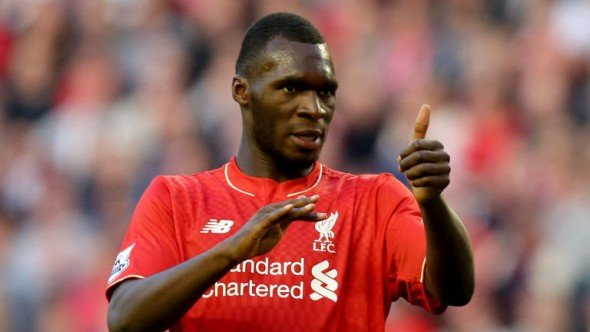 Red alert: Christian Benteke scored his fifth Liverpool goal of the season