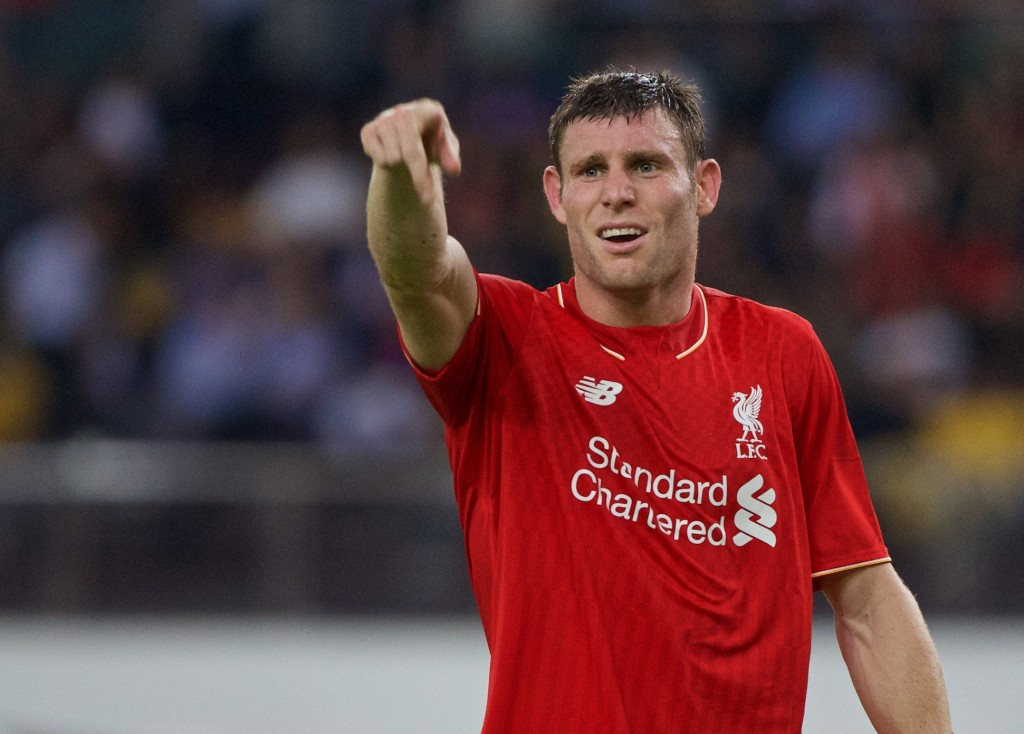 Red hot: James Milner opened the scoring after 55 seconds against Aston Villa