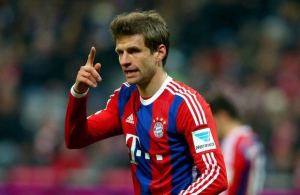 In form: Thomas Muller has scored 12 goals for Bayern this season