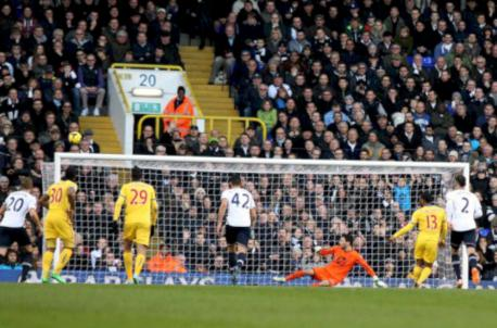 Over and out: Jason Puncheon failed to hit target with penalty against Spurs