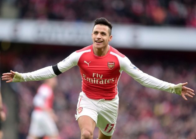 Red hot Chilean: Alexis Sanchez scored two goals as Arsenal destroyed United