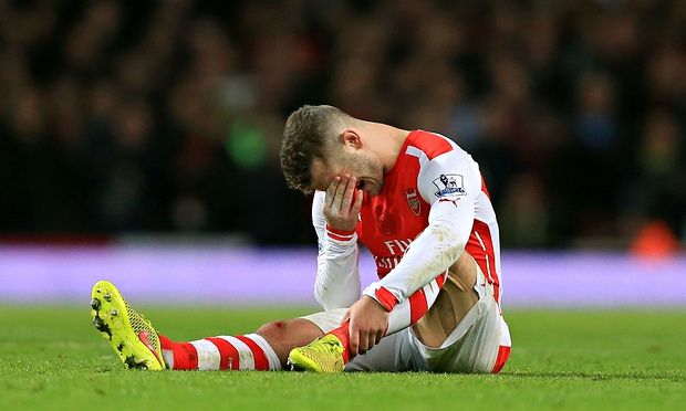 Jack the knife: Wilshere underwent surgery on his left fibula in mid-September