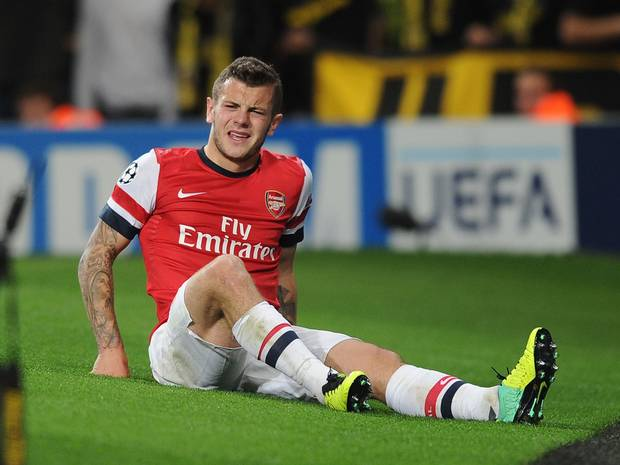 Red alert: Wilshere is not expected to play for Arsenal after blow