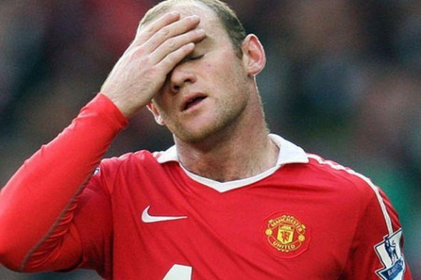 Red mist: Rooney has scored only two Premier League goals this season
