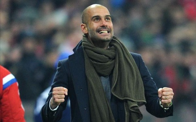 Arsenal fan: Pep Guardiola spoke warmly of several home players before Tuesday's match