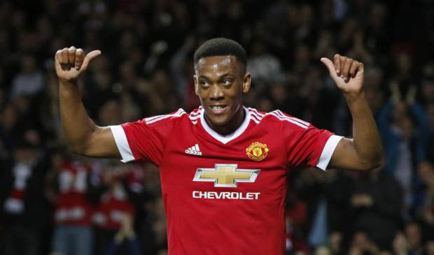 Red alert: Anthony Martial has taken some of the goalscoring burden off Wayne Rooney