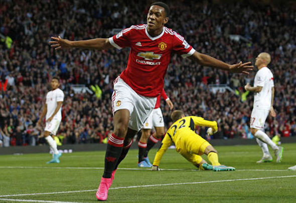Young gun: Martial could start up front against West Brom