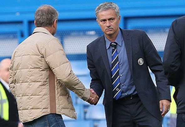 Staying on: Jose Mourinho has been given the backing of ruthless owner Abramovich
