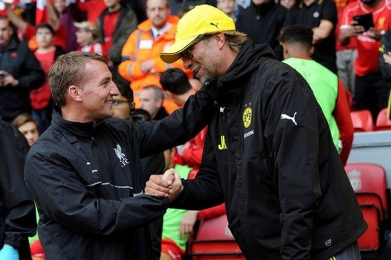 Handover: Jurgen Klopp has replaced Brendan Rodgers as Liverpool boss