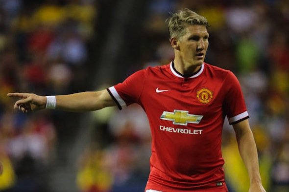 Man man: Bastian Schweinsteiger has emerged as Van Gaal's No1 midfield operator