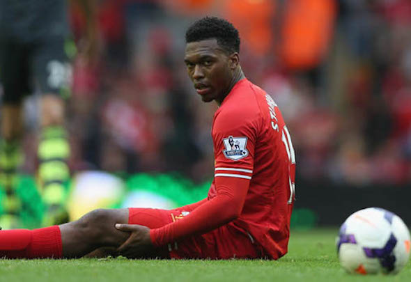 Red alert: Injury-prone Daniel Sturridge must undergo a scan on his knee problem