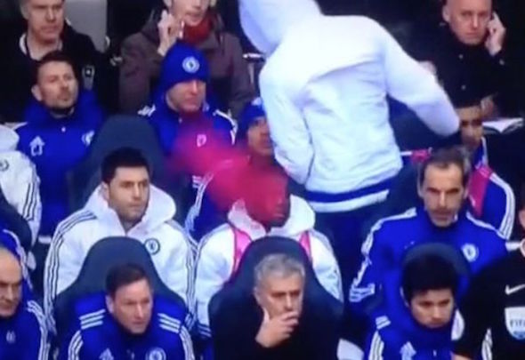 Aiming high: Costa threw his bid towards Mourinho after being left on the bench