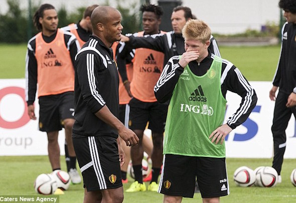 Security fears: Vincent Kompany and Kevin de Bruyne will return to England early