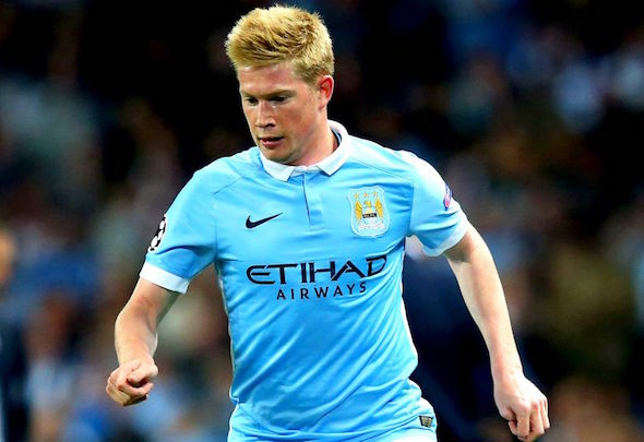 Blue-eyed boy: Kevin de Bruyne has settled in well at Manchester City