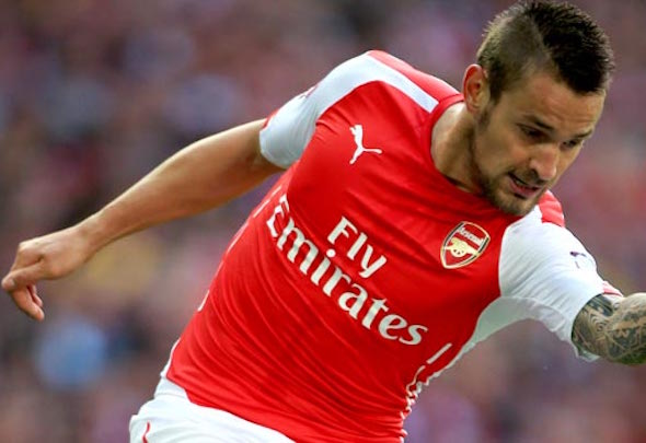 Numero deux: Mathieu Debuchy has slipped down the Gunners pecking order