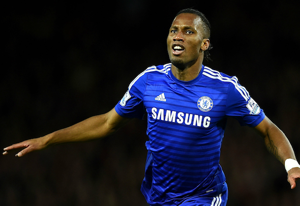 Attack minded: Didier Drogba is named in Terry's all-time Chelsea X1