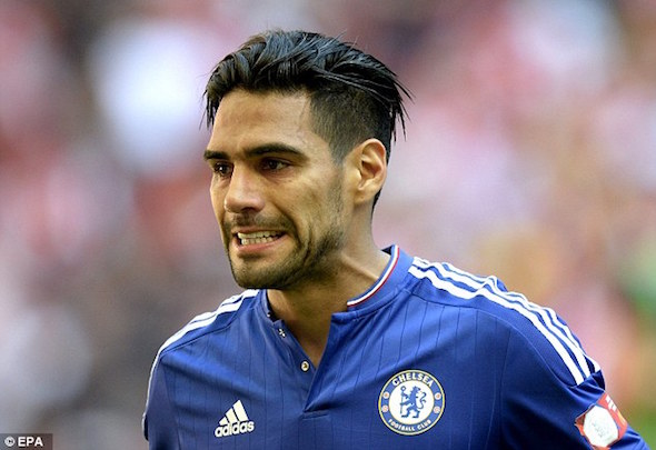 Moody blues: Radamel Falcao is a shadow of his former self