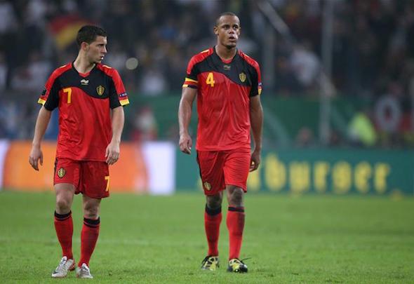 Eden Hazard, Vincent Kompany Belgium