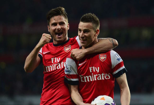 Top dog: Koscielny was outstanding against Newcastle