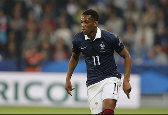 Fitness fears: Man United are sweating over injury suffered by Martial at Wembley