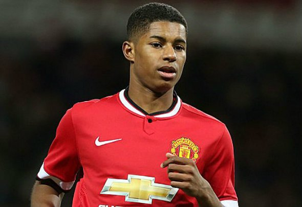 Young gun: Rashford has been used in the spearhead role ahead of Martial
