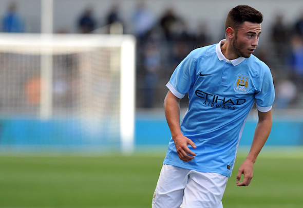 Blue boy: Patrick Roberts moved to Man City in the summer in an £11million deal
