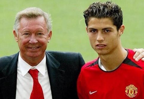 Teen spirit: Cristiano Ronaldo joined United as an 18-year-old