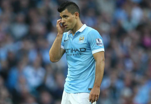 Injury blow: Sergio Aguero is facing a short spell on the sidelines