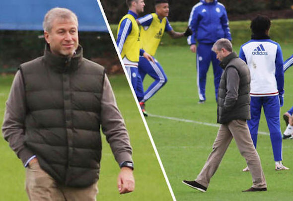 Roman Abramovich visited the Chelsea players at the training ground on Friday