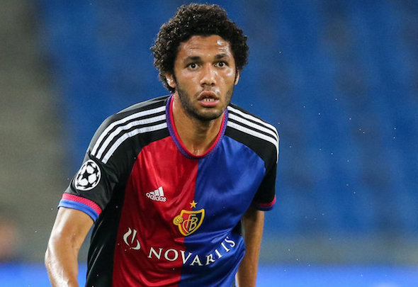 Done deal: Arsenal are set to announce Mohamed Elneny as a January signing