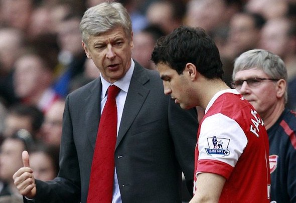 Cesc Fabregas spent eight years at Arsenal under Arsene Wenger