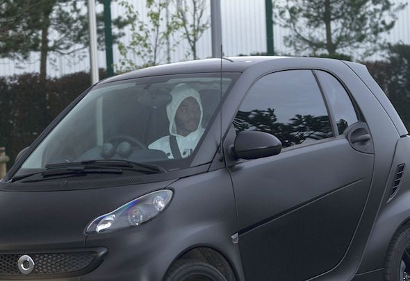 Raheem Sterling has been spotted driving to training in a Smart car rather than a super car