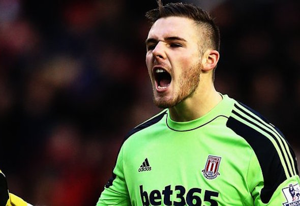 Manchester United are eyeing up Stoke goalkeeper Jack Butland