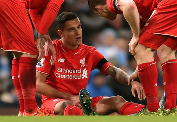 Philippe Coutinho became the latest Liverpool player to break down with a hamstring injury